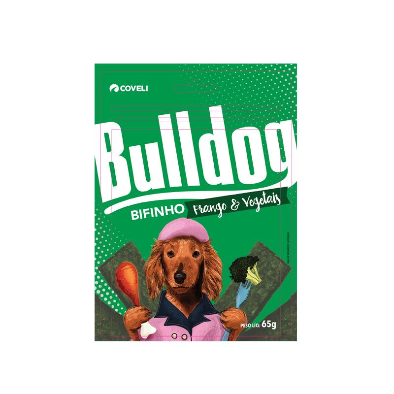 Bulldog Bifinho Frango e Vegetais